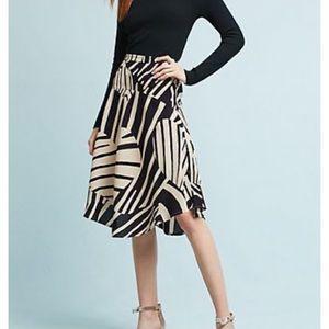 NWT Ava Midi Skirt. Zebra/Heart Pattern, Size 10